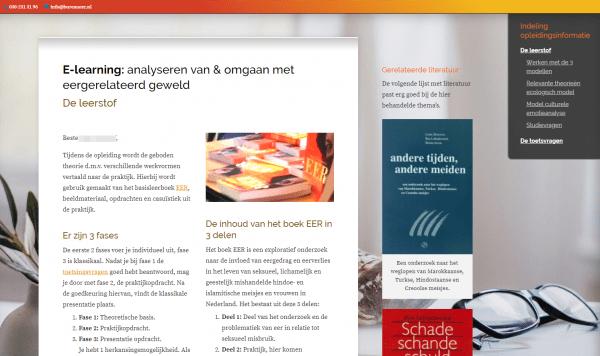E-learning EER - voorbeeld van de leerstof